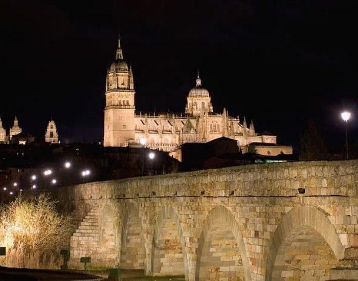 Puente Romano y Catedral de Salamanca